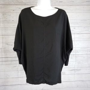 Two by Vince Camuto Bat Wing Top Sz Large Black